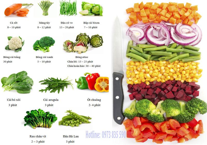 Cách hấp rau củ quả từ tủ nấu cơm công nghiệp